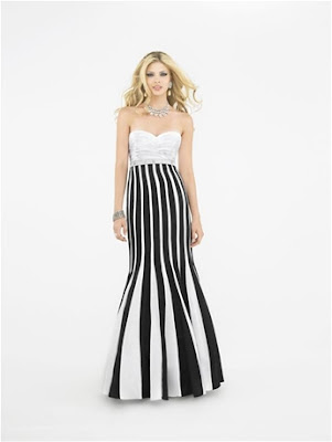 white formal dresses for women. This bold black and white