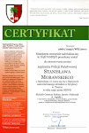 Certyfikat zaświadczający o posadzeniu dębu upamiętniającego Stanisława Morawskiego