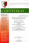 Certyfikat zaświadczający o psadzeniu dębu upamiętniającego Feliksa Kurę