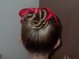 Little Girl's Hairstyles – A Dance HairDo: Twist Braid Bun