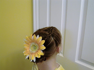 Little Girl's Hairstyles -2 Dutch Braids with a Stuffed Bun
