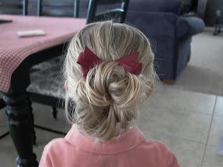 Little Girl's Hairstyles -Messy Bun