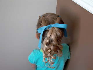 Pretty Hair is Fun-Pull Through Ponytail with Corkscrew Curls