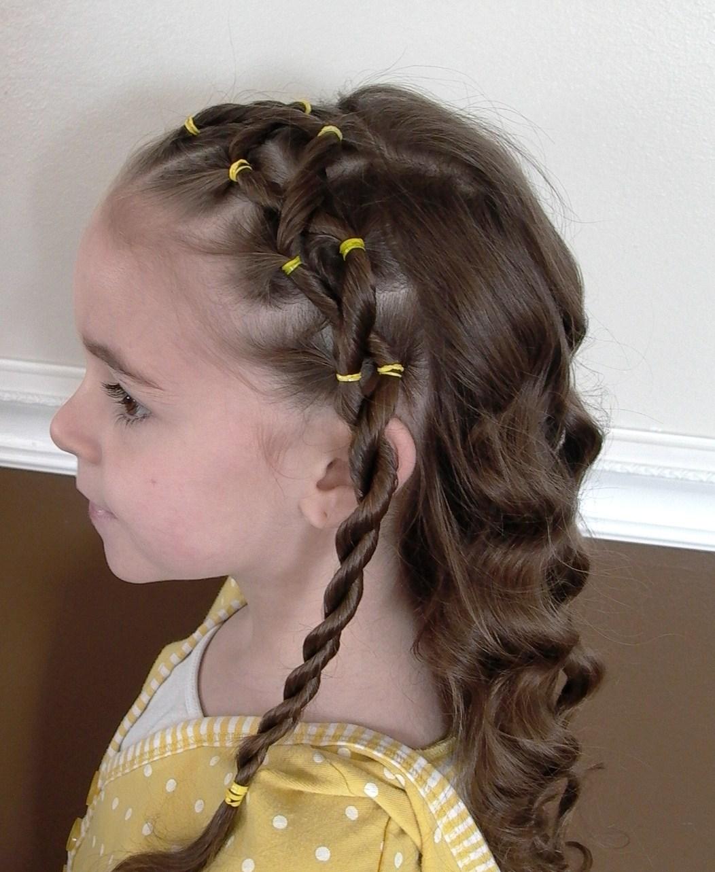 детские прически на длиные волосы фото