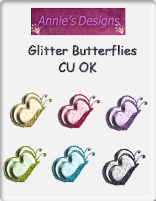 Cu freebie Glitter butterflies Preview