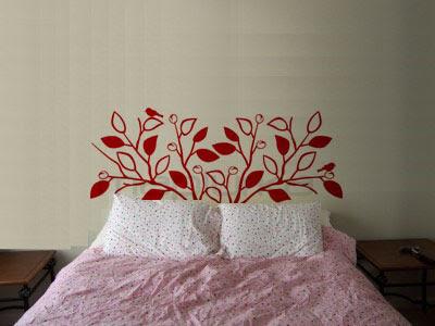 Mapiurka adhesivos decorativos ba respaldo de cama en - Vinilos cabezal cama ...