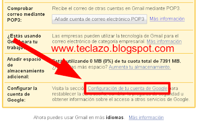 cambiar password gmail configuracion cuenta google