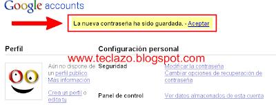 cambiar password gmail confirmacion