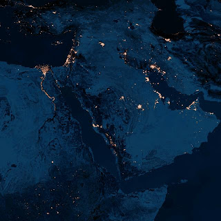 What freedom looks like at night (Mideast)