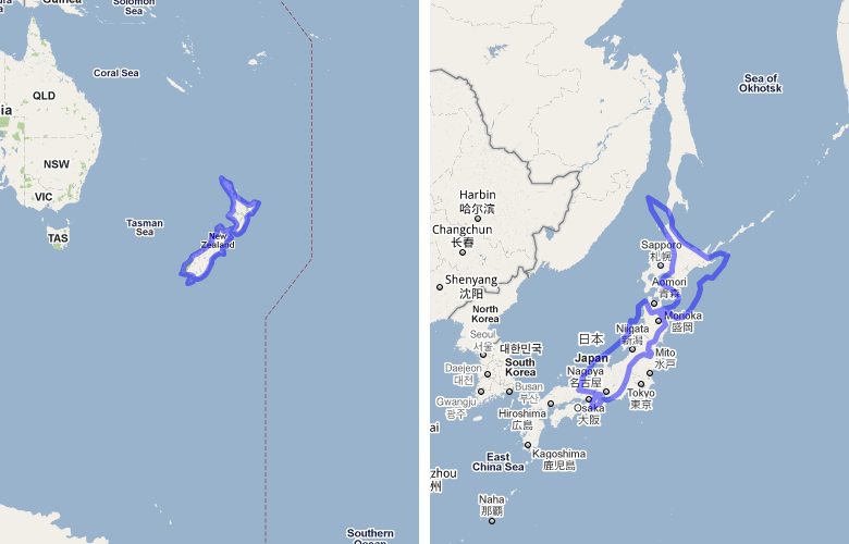 The area of Australia compared to the United States on Google Maps ...
