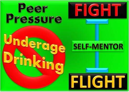 peer pressure underage drinking Taking the pressure out of peer pressure and underage drinking - this article explores how teenagers can pressure others to drink, and how to deal with it positive peer pressure - sometimes, you can use peer pressure to be a positive influence instead of a negative one.