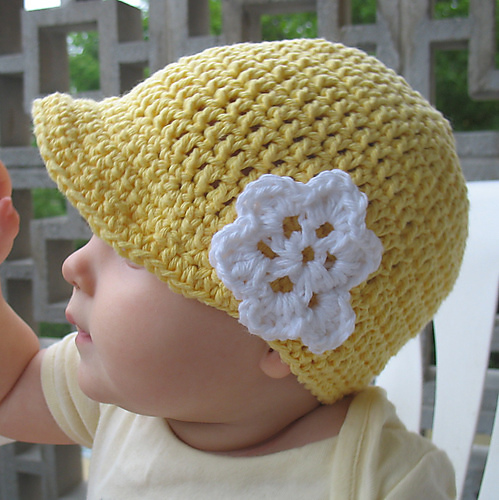 Free Crochet Pattern For Infant Newsboy Hat : Baby Crochet and Photo Props : HappyBabyCrochet
