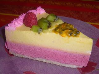 recettes dessert  Bavarois fruits exotiques et fruits rouges