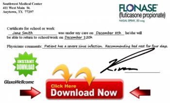 Download a Doctors Excuse.  Click below...