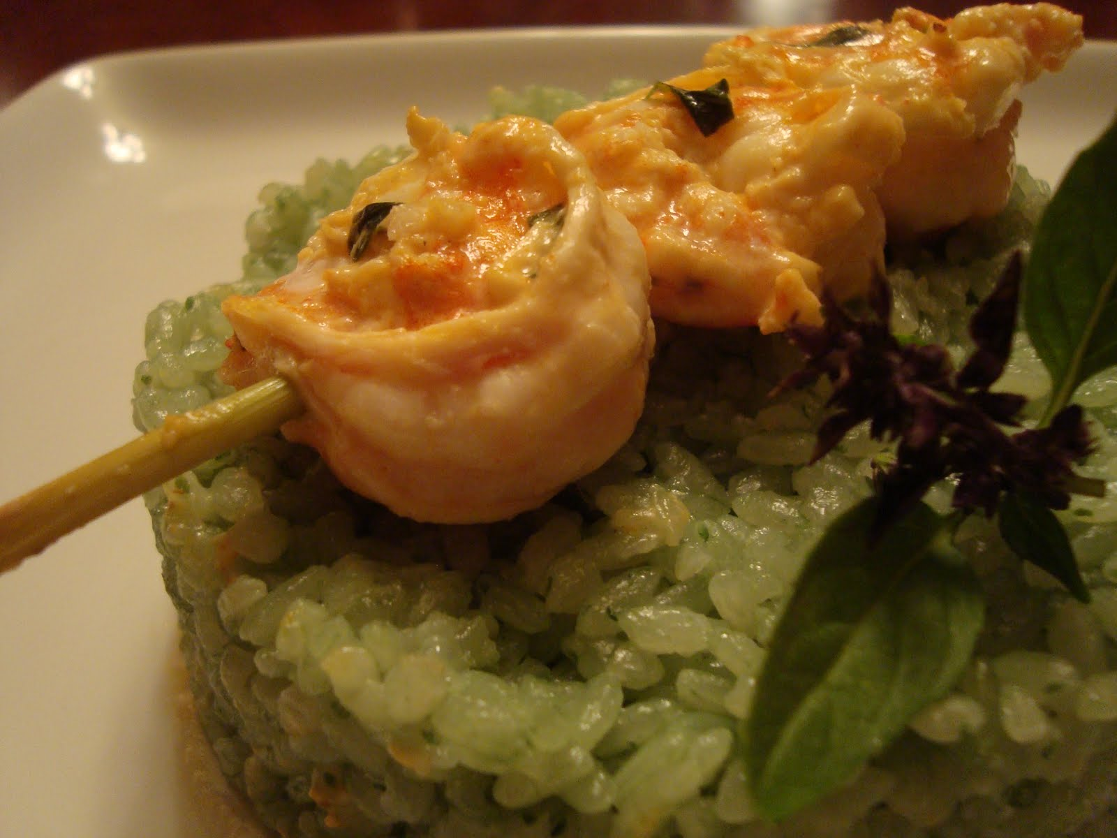 A Couple in the Kitchen: Lemongrass Shrimp and Bamboo Rice