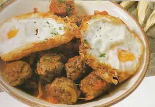boulettes viande foie œufs