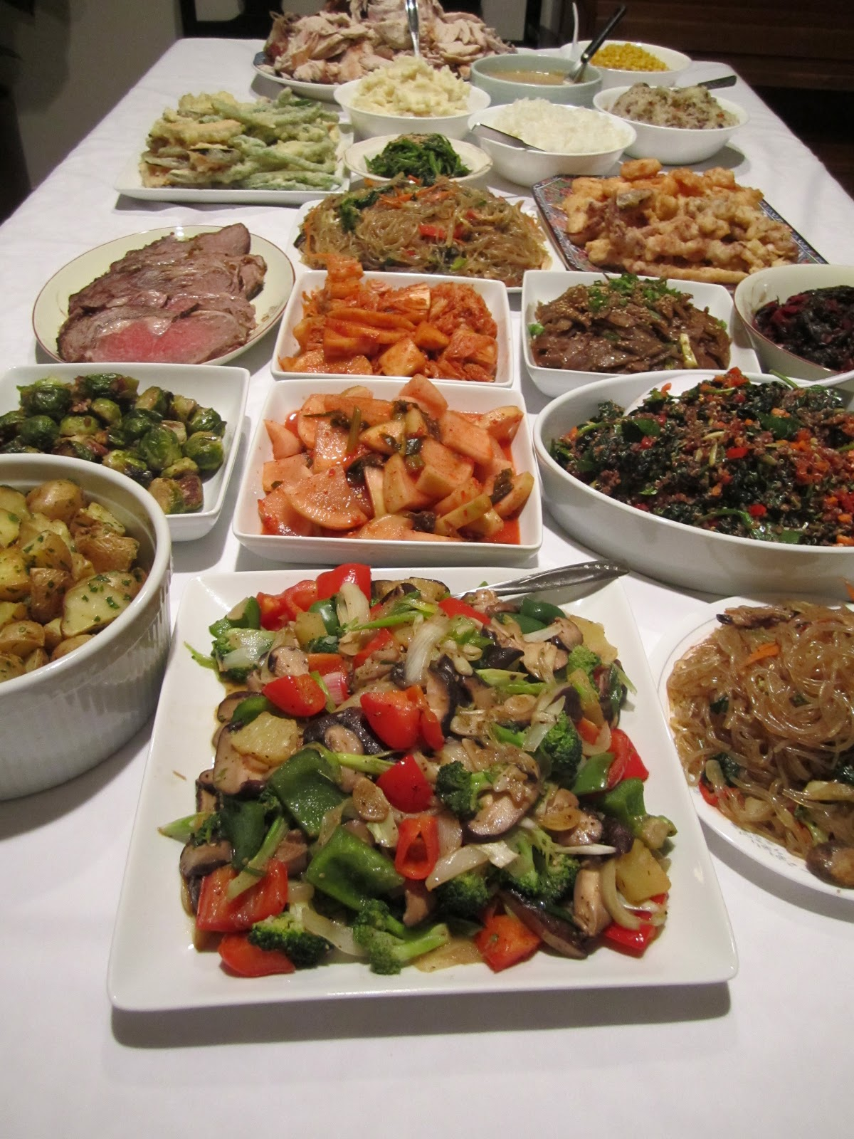 christmas dinner is a tradition at my parents like thanksgiving my mom usually makes the main protein along with some korean dishes and my siblings and