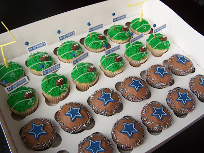 Unique Perfect Football Cupcakes Image