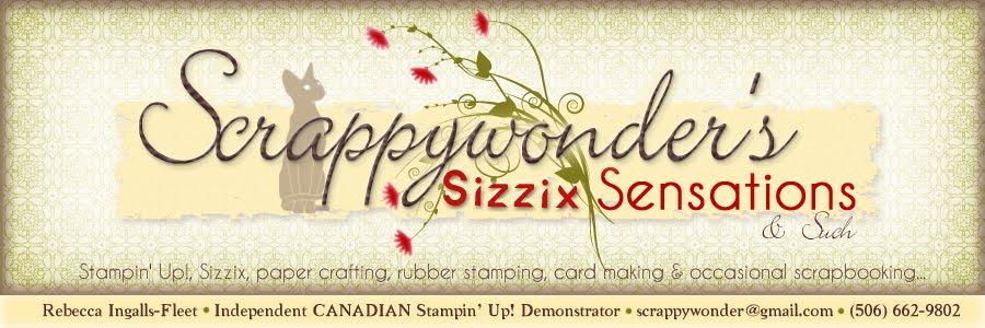 Scrappywonder's Sizzix Sensation's & Such