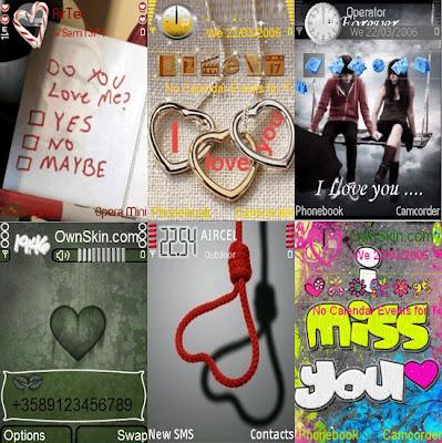 soft 9 Temas Romanticos (love) para Celulares Nokia s60v3