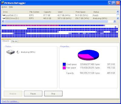 df1 Desfragmentando o HD e deixando seu PC rodando como se fosse novo com o Defraggler