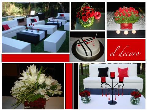 Cumpleaños en blanco, negro y rojo