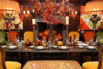 Aesthetic addiction november 2009 for Dining room decorating ideas for thanksgiving