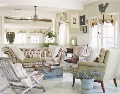 Country Cottage Living Room Furniture on Vermont Cottage  Natural Cottage Style Living Rooms