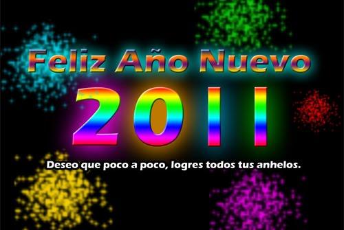 Nuevo wallpaper con mensaje para el Año Nuevo 2011
