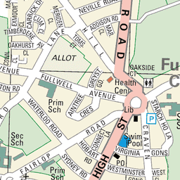 a map of the Fullwell Cross area