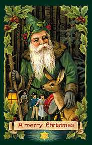 a pre-1930s Green Santa