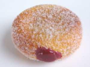 a jam doughnut