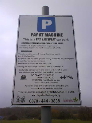 the  parking sign
