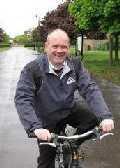 Roger Evans on Bike