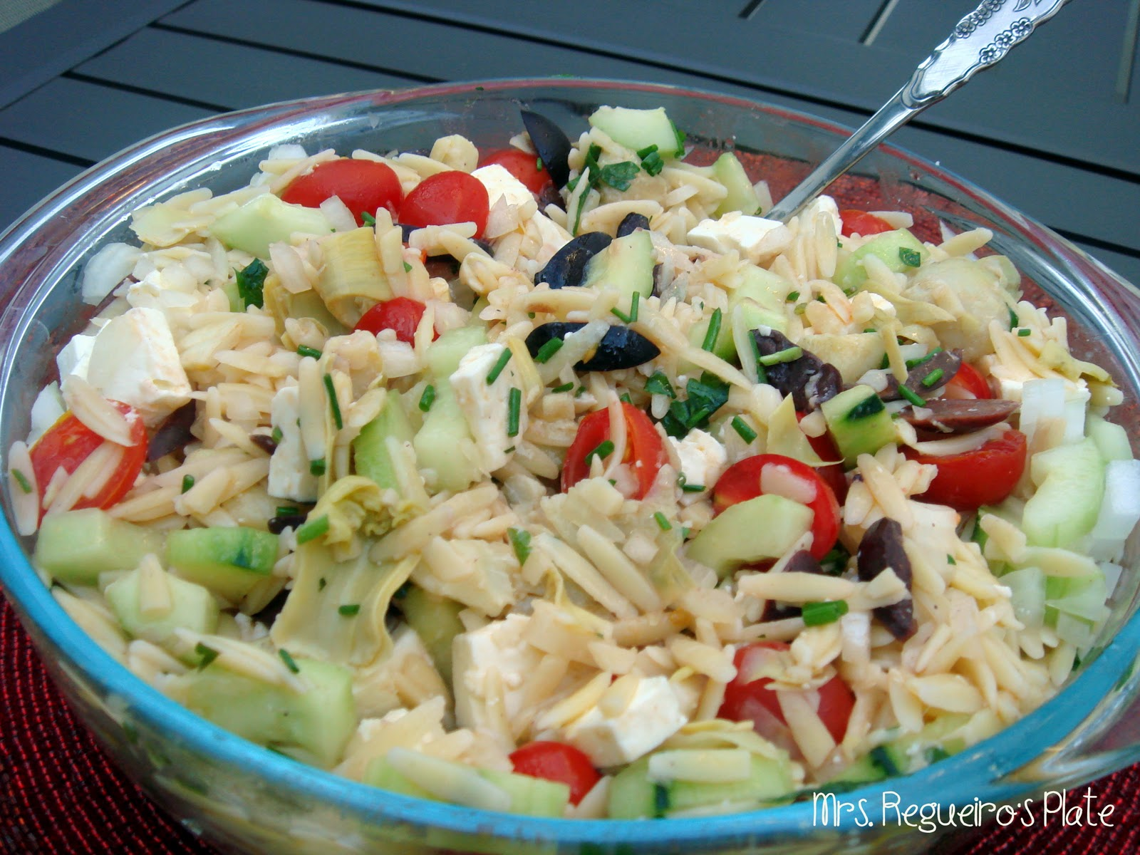 Mrs. Regueiro's Plate: Greek Orzo Salad