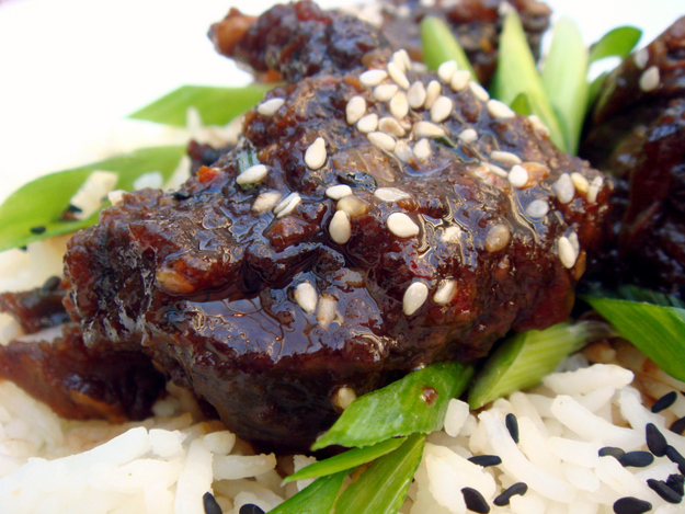 Kalbi Ribs With Macadamia Nut Rice Recipe — Dishmaps