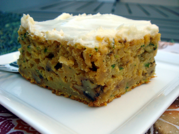 Mrs. Regueiro's Plate: Zucchini Cake with Lime Cream Cheese Frosting