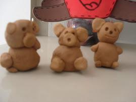 Massa de modelar: os ursinhos