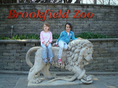 Cora and Malea at Brookfield Zoo