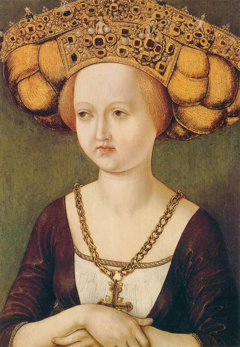 Portrait of Kunigunde of Austria c. 1485