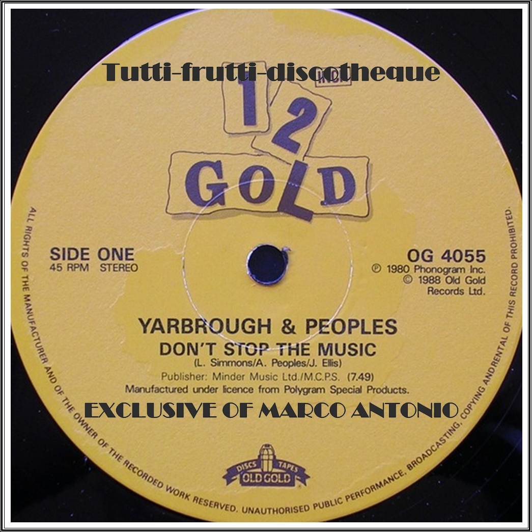 Yarbrough Peoples Dont Stop The Music Youre My Song