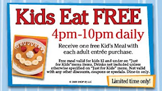 5 Kids Eat Free at IHOP Through September 13th