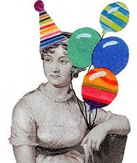 Ms. Austen celebrates Jesus birthday in her own way. - Image from Jane Austen Today