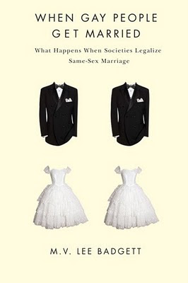 book jacket, picture of 2 suits, 2 wedding dresses