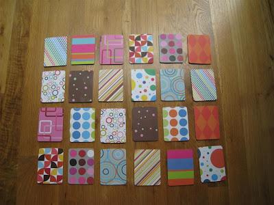 Chasing Cheerios Scrapbook Paper Memory Game