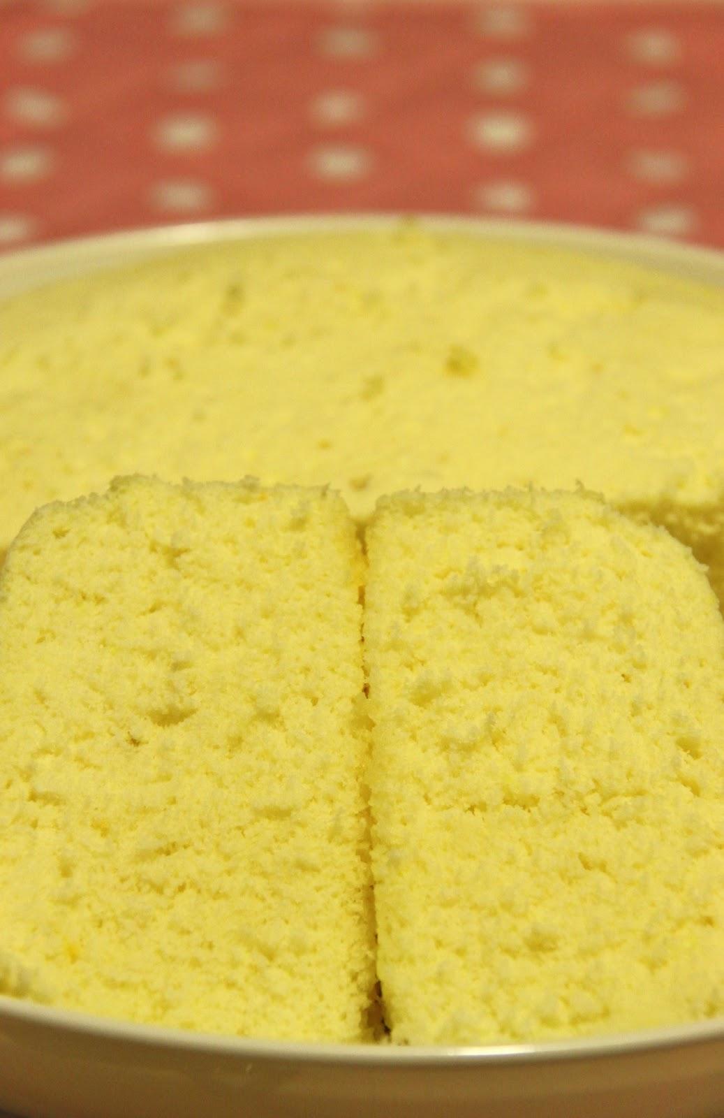 how to make a sponge cake with custard powder
