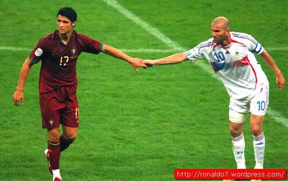 Cristiano Ronaldo e Zidane