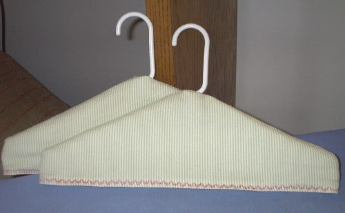 Angie S Whim Free Fabric Covered Padded Clothes Hanger