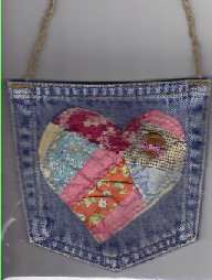 sew jeans pocket purse recycle crafts sewing fun
