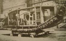Binnenzijde van een WO I tank